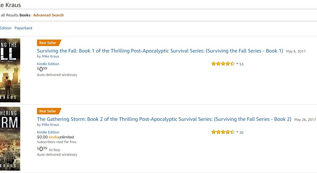 Two #1 bestsellers in the same day? Wow.